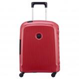 Afbeelding van Delsey Belfort 3 Spinner Cabin Trolley Slim 55 Red Harde Koffers