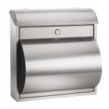 Afbeelding van ALCO mooie brievenbus RAIN met krantenhouder, roestvrij staal, B: 37 cm, H: 36 cm
