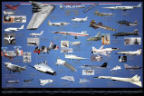 Afbeelding van Amerikaanse Vliegtuigen X planes 91.5x61cm Transport Posters