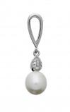 Afbeelding van Classics Zilveren Hanger met Parel en Zirconia 120.5408.00