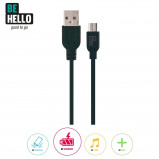 Afbeelding van BeHello Charge and Synch Cable Micro USB 1.2m Black