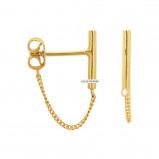 Afbeelding van ANNA + NINA 925 Sterling Zilveren Essentials Bar Goudkleurige Oorbellen 011507GP0000