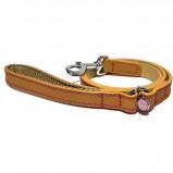 Image of Rosewood Leash Luxury Leather Dog Sand Studs 10mm x 100cm