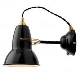 Afbeelding van Anglepoise anglepoise®original 1227 Brass wandlamp zwart, voor woon / eetkamer, staal, messing, E27, 20 W, energie efficiëntie: A++, H: 15 cm