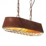 Afbeelding van Brilliant balk hanglamp Factory in roest, voor woon / eetkamer, metaal, E27, 60 W, energie efficiëntie: A++, L: 90 cm, B: 20.6 cm
