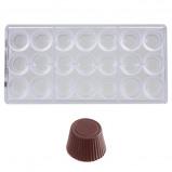 Afbeelding van Bonbonvorm Chocolate World Cuvette Rond (21x) 30x19mm