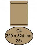 Afbeelding van envelop clevermail akte c4 229x324mm 90gr bruin 25 stuks