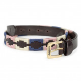 Obrázek Aubrion by Shires Belt Polo Navy/Pink/Natural 110cm