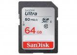 Afbeelding van Geheugenkaart Sandisk SDXC Ultra class10 64GB Geheugenkaarten