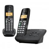 Afbeelding van Gigaset AL220A Duo Zwart vaste telefoon