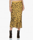 Zdjęcie ANINE BING Bar Silk Printed Skirt Golden Leo