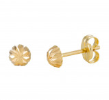 Afbeelding van 14 Krt Gouden Oorbellen 5.0 mm Gediamanteerd 206.0460.05