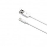 Afbeelding van Celly Cable Data Lightning Light MFI White