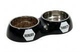 Afbeelding van 51Degrees Dinner Bowl Dubbel Zwart 2x350ml Hondenvoer Kattenvoer