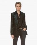 Obrázek ANINE BING Blazer Emerald Madeleine Leopard Jacquard