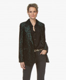 Bilde av ANINE BING Blazer Emerald Madeleine Leopard Jacquard