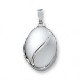 Afbeelding van Best Basics 145.0027.00 Zilveren Hanger Medaillon Ovaal