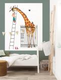Afbeelding van KEK Amsterdam behangpaneel Giant Giraffe (142.5x180 cm)