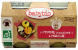Afbeelding van Babybio Dessert Appel Mango 4 Maanden 130 gram, 2x130 gram