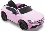 Afbeelding van Elektrische kinderauto Mercedes C63 AMG roze