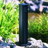 Afbeelding van Albert Leuchten 2 voudige stopcontactenzuil zwart, gegoten aluminium, aluminium profiel, H: 50 cm