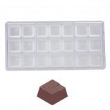 Afbeelding van Bonbonvorm Chocolateworld Blokje uitkerving (21x) 27x27x14mm