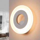 Afbeelding van Helestra helestra Jenna ronde LED wandlamp, voor hal, metaal, acrylglas, 7 W, energie efficiëntie: A+
