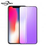 Εικόνα του 0.23mm 3D Curved Tempered Glass for iPhone X RONICAN Soft Edge High Definition Anti Blue Light Screen Protector for iPhone XS