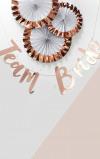 Imagine din 1.5M 'Team Bride' Rose Gold Bunting
