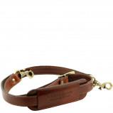 Image of Adjustable leather shoulder strap Brown