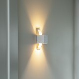 Image of Amy white wall lamp
