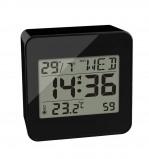 Afbeelding van Balvi digitale klok met datum temperatuur en alarm Block Zwart