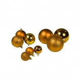 Afbeelding van Lifetime Kerstballen set in Tas 77 ballen Plastic / Kunststof Goud