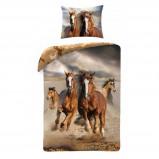 Afbeelding van Animal Pictures dekbedovertrek Paarden Bruin 140x200 cm