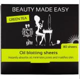 Afbeelding van Beauty Made Easy Oil Blotting Sheets Green Tea 80ST