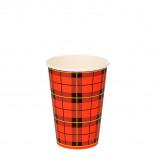 Afbeelding van 2500x Koffiebeker Schotse ruit Scotty 180ml