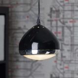 Afbeelding van Brilliant 1 lichts pendellamp RIDER, zwart, voor woon / eetkamer, metaal, glas, E14, 25 W, energie efficiëntie: A++