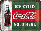 Afbeelding van Coca Cola Ice Cold Sold Here Metalen Wandplaat 20x15cm Wandplaten