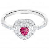 Afbeelding van Swarovski 5446300 Ring One zilverkleurig rood Maat 55
