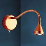 Afbeelding van Busch flexibele LED wandlamp MINI in antiek design, voor slaapkamer, metaal, 2.5 W, energie efficiëntie: A+