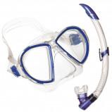 Afbeelding van Aqua Lung Sport Duetto LX + Airflex Purge Snorkelset Blauw
