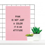 Afbeelding van Retro Letter Board 31 x 46 cm Roze Letterborden