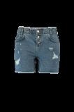 Abbildung von FSTVL by MS Mode Damen Shorts mit Knopfverschluss und Fransen Denim
