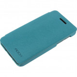 Afbeelding van Rock Big City Leather Side Flip Case BlackBerry Z10 Light Blue
