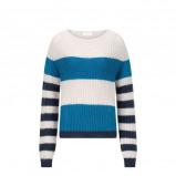 Afbeelding van alchemist gestreepte trui met wol blauw/grijs