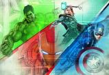 Afbeelding van Avengers Graphic Art 8 delig Fotobehang 368x254cm Film