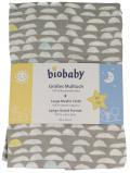 Afbeelding van Biobaby Hydrofiele Luier Grijs/Wit 80x70cm