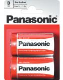 """Bilde av """"2 stk Panasonic D Zink Carbon Batterier"""""""