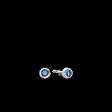 Abbildung von TI SENTO Milano Ohrring Rhodiniertem Sterlingsilber Blau Damen 7597DB