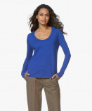 Immagine di American Vintage Long Sleeve Jacksonville in Electrique Blue